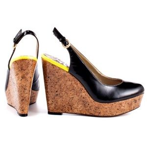 Sam Edelman Mallory Slingback Cork Wedge Heels